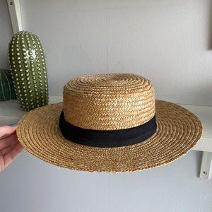 Lack of Color straw boater hat / 58 cm